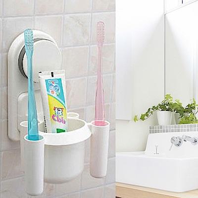 超實用吸盤牙膏牙刷架