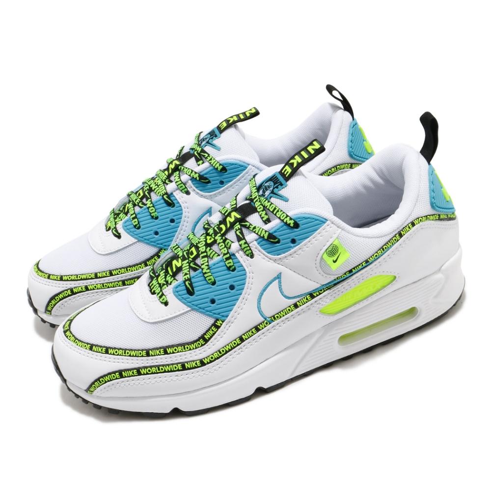 Nike 休閒鞋 Air Max 90 SE 運動 男女鞋 經典 氣墊 舒適 避震 串標 情侶穿搭 白 黃 CZ6419100