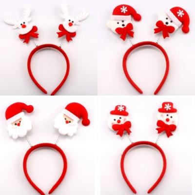 Baby童衣 聖誕髮箍 鹿角髮飾 聖誕老人彈簧髮箍 88249(隨機出貨)