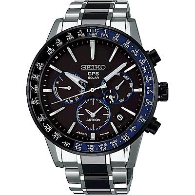 SEIKO 精工 Astron 5X53 雙時區 陶瓷鈦金屬GPS衛星定位錶