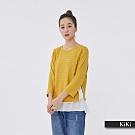 【KiKi】假兩件式搭配-襯衫(二色)