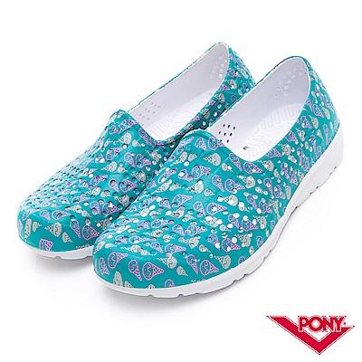 【PONY】TROPIC 輕量舒適GOGO鞋 涼鞋 拖鞋-中性-藍綠