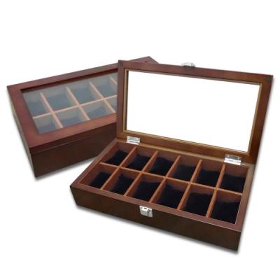 低調奢華 手錶收藏盒 配件收納 腕錶收藏盒 12入收藏 實木質感 - 紅褐木色