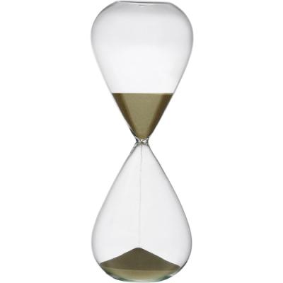 《VERSA》30分鐘圓弧玻璃沙漏(暗金)