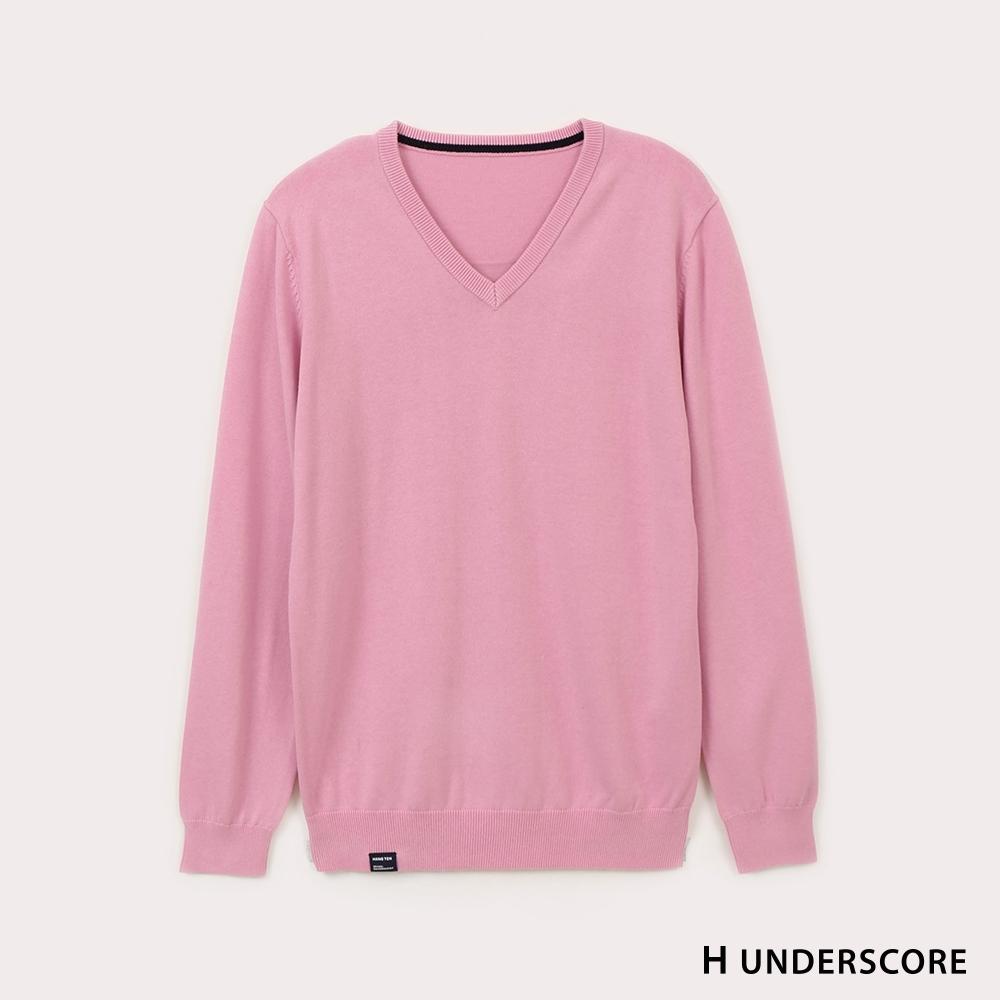Hang Ten-男裝-純色線衫-粉色