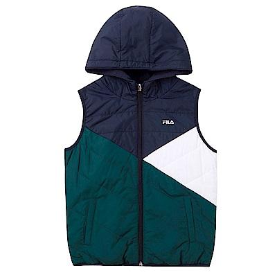 FILA KIDS 童雙面穿連帽背心-綠色 1VES-8314-GN