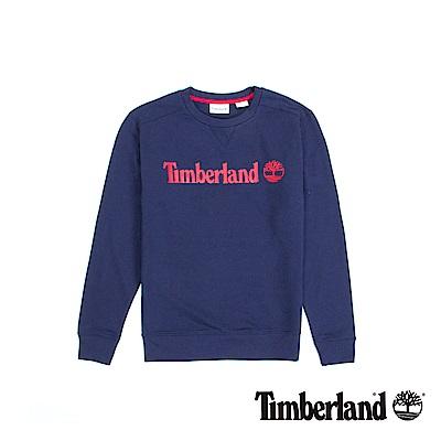 Timberland 男款航海藍長T運動衫