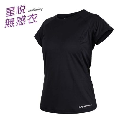 HODARLA 女 星悅無感短袖T恤 黑