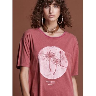 ONETEASPOON T恤 WORN RED PARADISE T恤-紅(女)