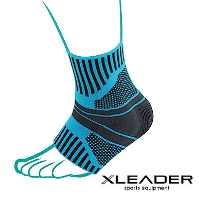 Leader X 運動壓力矽膠墊片護踝套 踝關節保護墊 藍黑 2只入