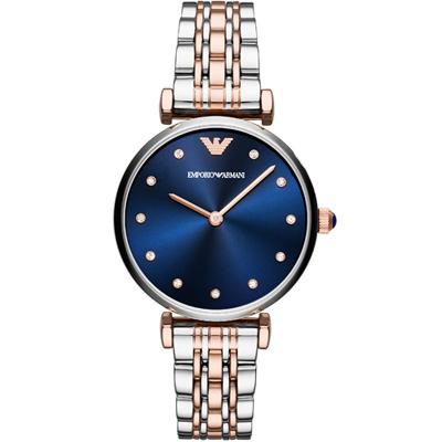 Emporio Armani 寧靜夜空時尚腕錶(AR11092)藍/32mm