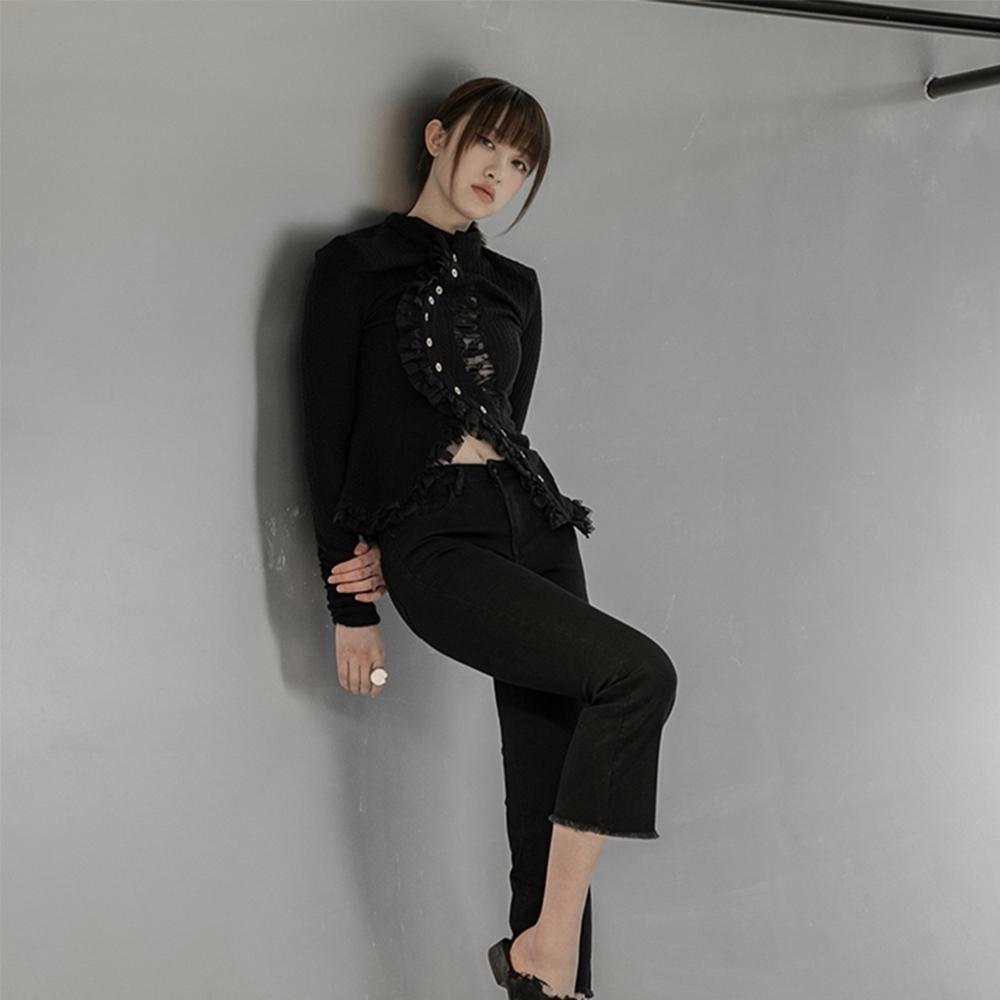 設計所在Style-新暗黑蕾絲鏤空不規則針織開衫