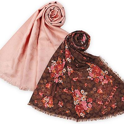 COACH  經典滿版LOGO 羊毛混絲圍巾(多款)-均一價2950