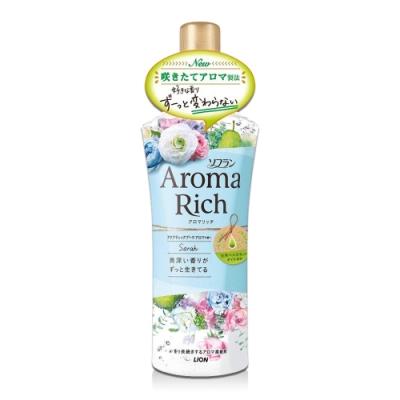 日本 Aroma Rich 衣物香氛柔軟精 520ml-藍色Sarah