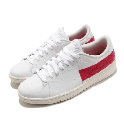Nike 休閒鞋 AJ1 Centre Court 男鞋 經典款 喬丹一代 皮革 簡約 穿搭 白 紅 DJ2756101