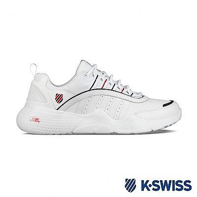 K-SWISS CR-Castle 復古老爹鞋-男-白/藍/紅