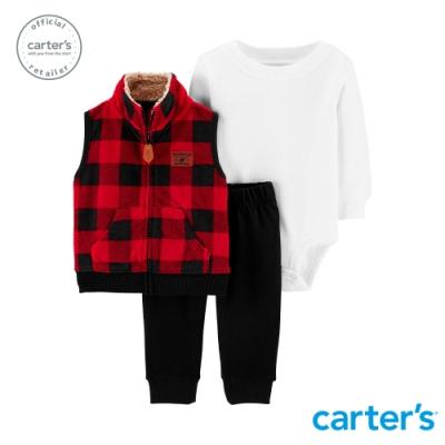 Carter s台灣總代理 美式格紋背心3件組套裝