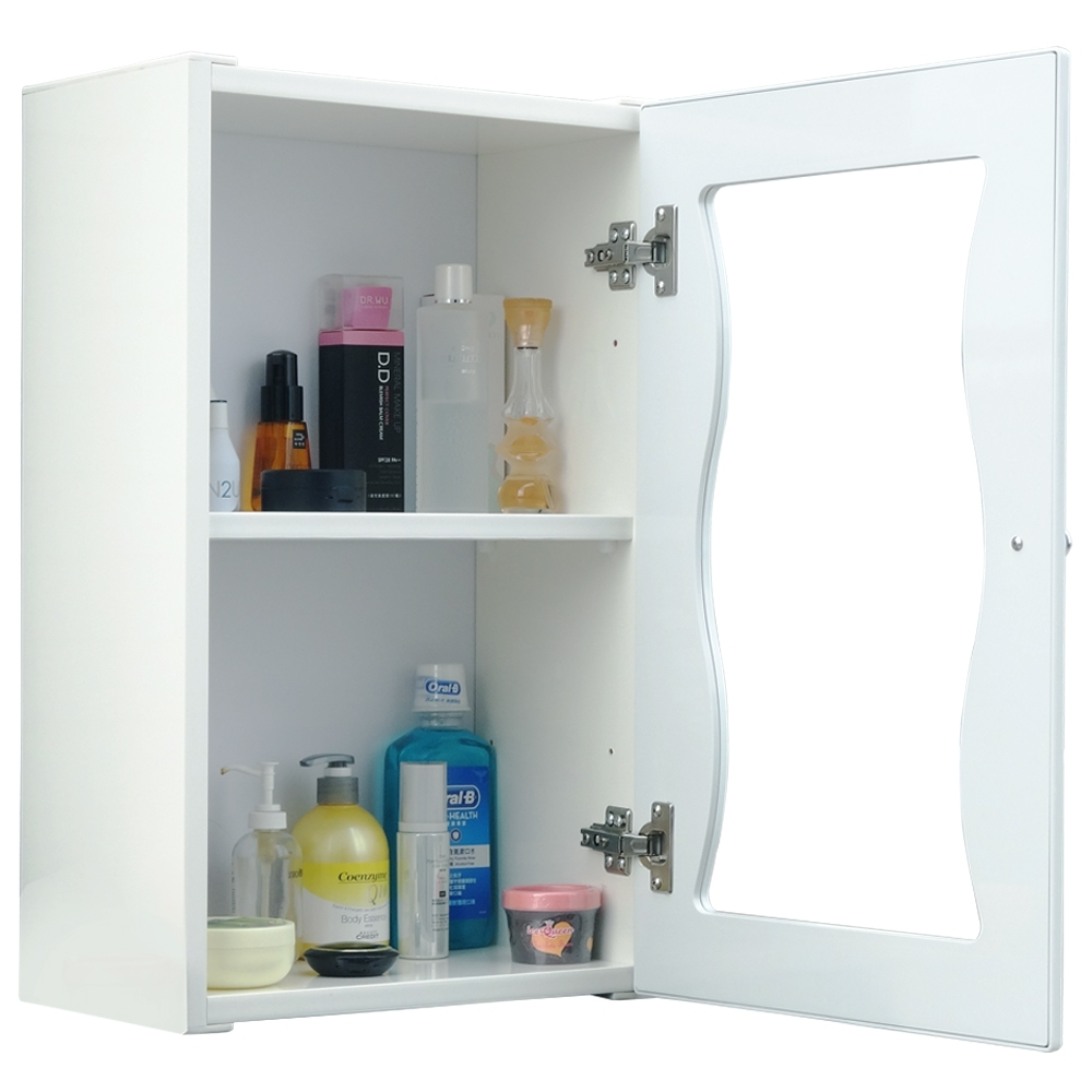 海灣大單門防水塑鋼浴櫃/置物櫃-白色1入