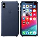 Apple 原廠 iPhoneXs Max 皮革保護套 午夜藍 (台灣公司貨)