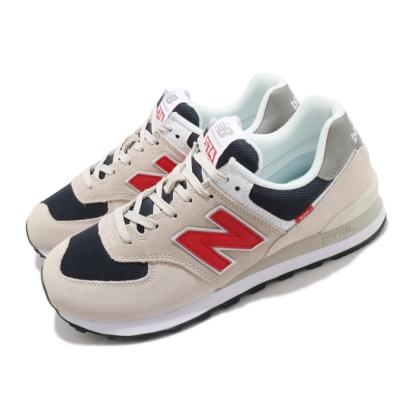 New Balance 休閒鞋 574 復古 低筒 男鞋 紐巴倫 麂皮 N字鞋 穿搭推薦 淺褐 紅 ML574SJ2D
