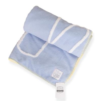 CRAFTHOLIC 宇宙人 戀愛甜甜熊小毛毯(藍色)