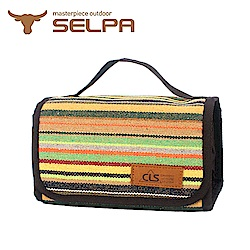 韓國SELPA 民族風摺疊洗漱包 洗滌包 盥洗包(兩色任選)