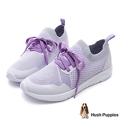 Hush Puppies Egret 襪套式健走鞋-粉紫色