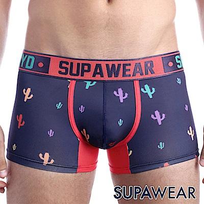 SUPAWEAR 趣味系列超彈性型男四角內褲(海藍色)