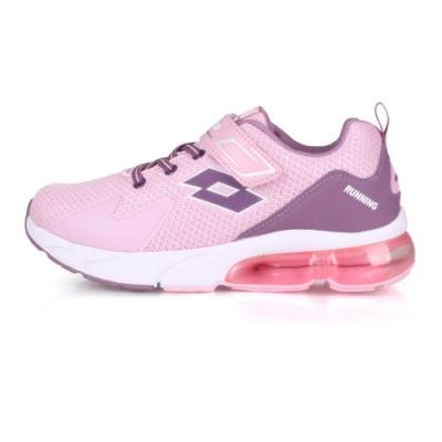 LOTTO 大童氣墊慢跑鞋-寬楦 粉紅紫