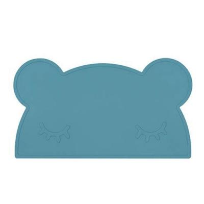 澳洲We Might Be Tiny 矽膠防滑餐墊熊寶寶-孔雀藍