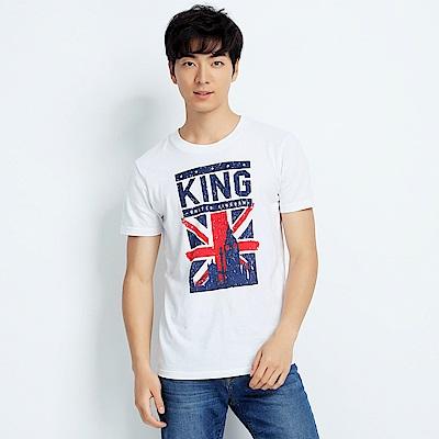 101原創 環遊世界-大英帝國短袖T恤上衣-白
