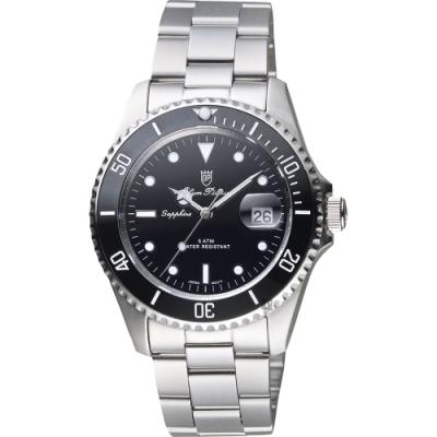 Olym Pianus 奧柏陶瓷錶圈日期手錶-黑/39mm(899831MS)