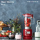 recolte 日本麗克特Glass Blender Rico 耐熱果汁機-經典紅