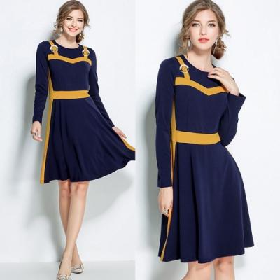 【KEITH-WILL】花香鳥語美式洋裝