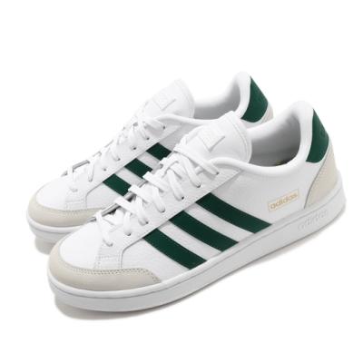 adidas 休閒鞋 Grand Court SE 復古 男鞋 愛迪達 三線 皮革鞋面 球鞋穿搭 白 綠 FW6688