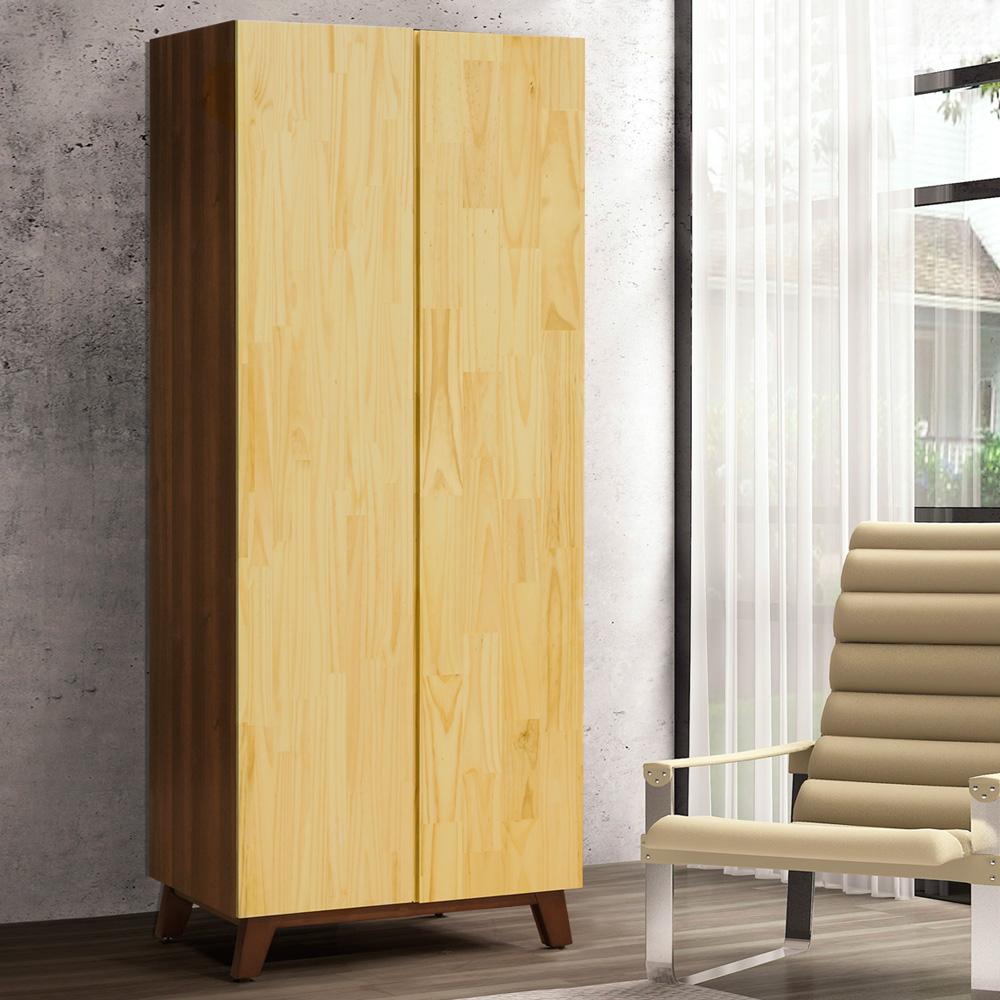 Homelike 奇諾中國風2.7尺單吊衣櫃-81x56x200cm-免組裝
