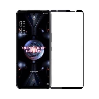 IN7 ASUS ROG Phone 5 ZS673KS (6.78吋) 高清 高透光2.5D滿版9H鋼化玻璃保護貼 疏油疏水 鋼化膜-黑色