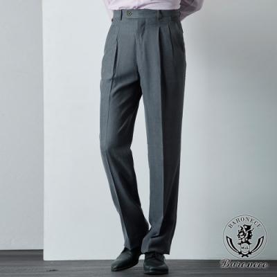 BARONECE 百諾禮士 商務型男雙褶西褲_灰(61119-04)
