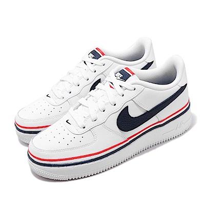 Nike 休閒鞋 Air Force 1 LV8 1 女鞋 經典款 AF1 皮革簡約 大童 球鞋穿搭 白 紅 CW0984100