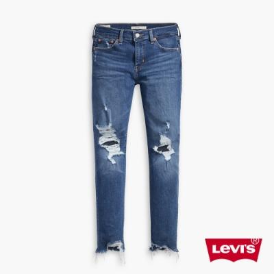 Levis 男友褲 中腰寬鬆版牛仔褲 Orta丹寧 大破壞及踝款 彈性布料