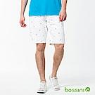 bossini男裝-休閒印花短褲04白