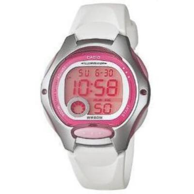 CASIO 超時空玩家電子運動錶-白帶x銀框(LW-200-7A)/37.9mm