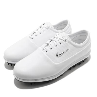 Nike 高爾夫球鞋 Victory Tour 寬楦 男鞋 運動 避震 包覆 舒適 穿搭 球鞋 白 銀 AQ1478100
