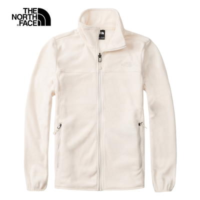The North Face北面女款米白色保暖休閒抓絨外套|4NAQN3N