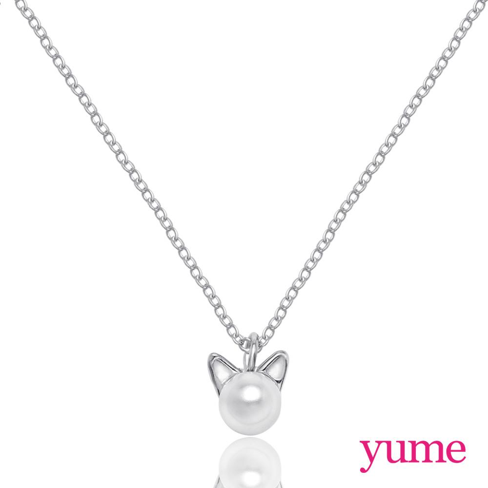 YUME 珍珠小貓咪項鍊
