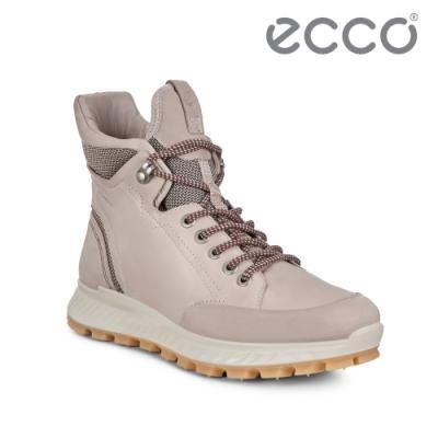 ECCO EXOSTRIKE. 突破極限高筒運動戶外靴 女-灰粉