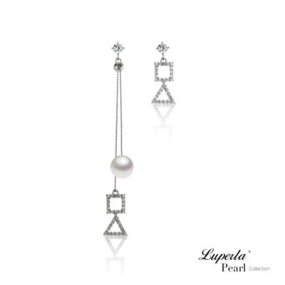 大東山珠寶 日本Akoya海水珍珠純銀晶鑽不對稱耳環自由變化長短耳墬 燦爛星光