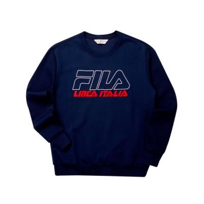 FILA #LINEA ITALIA 長袖圓領T恤-丈青 1TET-5435-NV