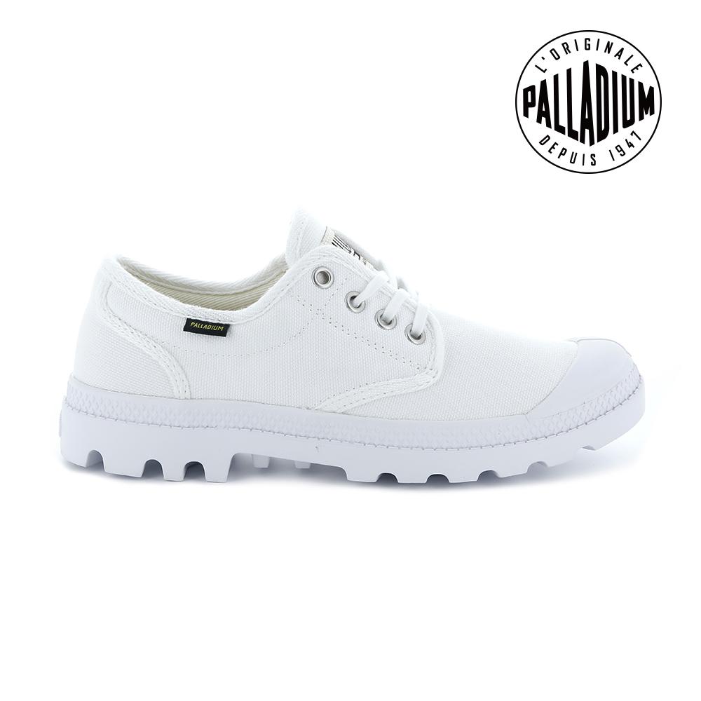 Palladium Pampa OX ORIGINALE帆布鞋-女-白
