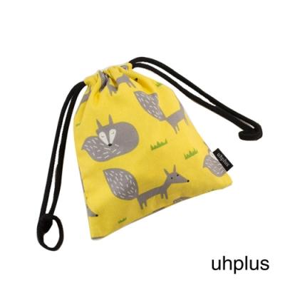 uhplus 迷你束口袋-小狐狸(檸黃)